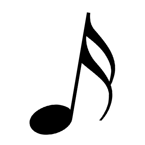 音符のイラスト 大きな 音符マーク アイコン