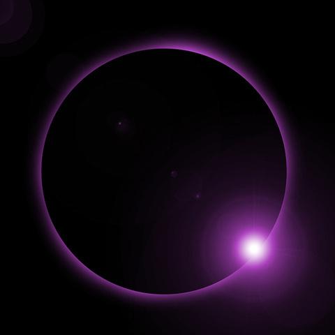 アイコン 紫の光