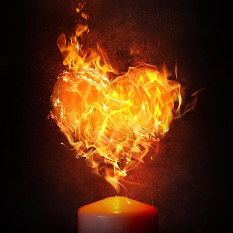 炎デザインのイラスト 自分好みで見つける炎とハート