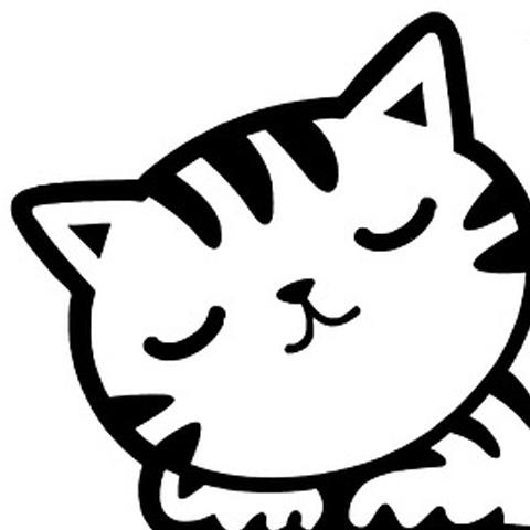 ねこイラスト ラインアイコン かわいい猫イラスト アイコン